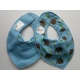 Pippi Scarf Bib with Animal Print, Blue