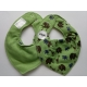 Pippi Scarf Bib with Animal Print, Green
