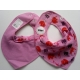 Pippi Scarf Bib with Animal Print, Rose