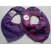 Pippi Scarf Bib with Animal Print, Purple