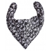 DryBib Bandana Bib - Black with White Skulls