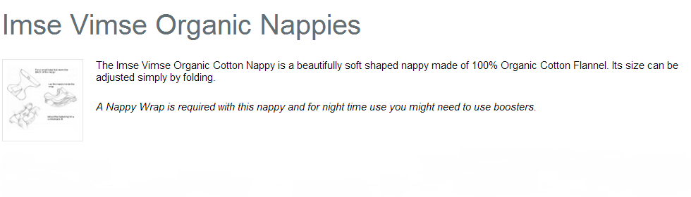 Organic Nappies