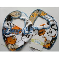 Disney Scarf Bib with Mickey, Blue stitching