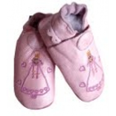 CeLaVi slippers, Rose with Princess embroidery Size 19/20
