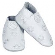 CeLaVi slippers, White with embroidery Size 19/20