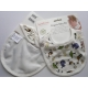 Organic Baby Cotton Bib -  Zoo design