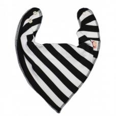 DryBib Bandana Bib – Black and White Stripes