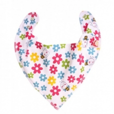 DryBib Bandana Bib – Flowers and Bees