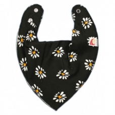 DryBib Bandana Bib – Flowers on black