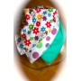 DryBib Bandana Bib - Bees and flowers/ Multicoloured bubbles/Light green (Pack of 3)