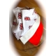 DryBib Bandana Bib - British Flags/Cream/Red (Pack of 3)