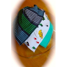 DryBib Bandana Bib - Multicolour Stripes/Cute Dinosaurs/Light green (Pack of 3)