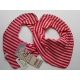 Pippi Scarf Bib, Rose Striped