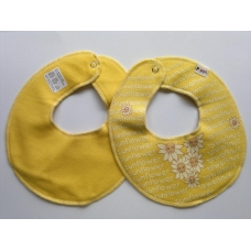 Pippi Scarf Bib with Sunflowers and Writing