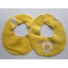 Pippi Scarf Bib with Sunflower