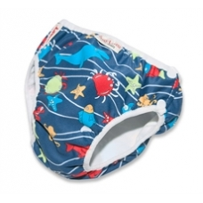 Imse Vimse Swim Nappy - 'Sea animal'  - Blue - NEWBORN